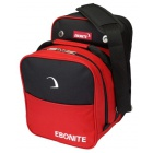 EBONITE COMPACT SINGLE TOTE BLACK RED