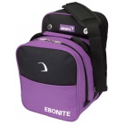 EBONITE COMPACT SINGLE TOTE BLACK PURPLE